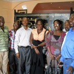 Working team during study tour in Ghana